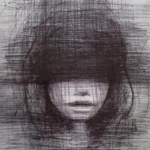 Alice - ink on paper - Eugene DEBBANE