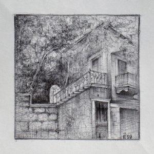 Ashrafieh, Beyrouth V1 - ink on paper - Eugene DEBBANE