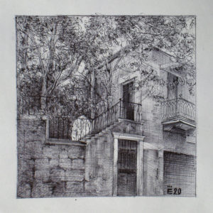 Ashrafieh, Beyrouth V2 - ink on paper - Eugene DEBBANE