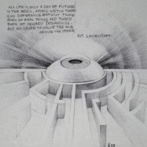 Lovecraft - ink on paper - Eugene DEBBANE