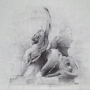 Chimère - ink on paper - Eugene DEBBANE