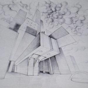 Fixity - ink on paper - Eugene DEBBANE