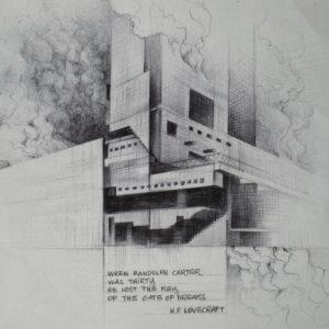 Gate of dreams - ink on paper - Eugene DEBBANE