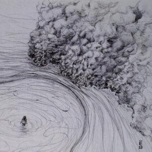 Les brumes de mon esprit - ink on paper - Eugene DEBBANE