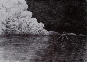 Le prix du voyage - ink on paper - Eugene DEBBANE