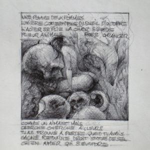 Soleil d'Octobre - ink on paper - Eugene DEBBANE